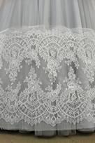 bordi pizzo chantilly oro avorio panna per abiti per nozze