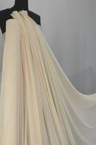 poliestere chiffon avorio tessuto per abito danza ballo