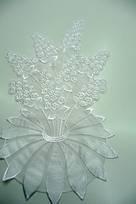 con perle strass paiettes di seta bianco avorio bordini