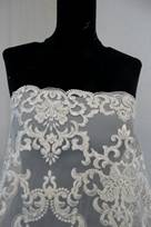 bicolore lavorato tessuto per confezionare un abito da sposa
