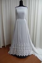 tessuti sposa in poliestere seta georgette ricamato abito