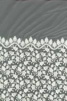 tessuto ricamato sposa di tulle poliestere seta al metro