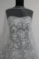 tulle glitter tessuto da sposa per abiti prezzo ingrosso