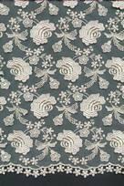 semi tessuti per velo con ricamo morbido bianco seta pura