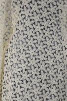 su tulle rete tessuto rebrodato bianco in seta poliestere