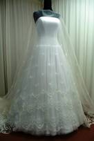 tessuti da sposa in poliestere seta organza ricamati abiti