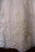 tessuto da sposa di taffetas in seta poliestere con ricamo