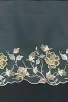 naturale in seta macrame rebrodato cordonetto brillantinato