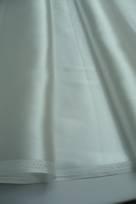 tessuto da sposa organza e pizzo in poliestere seta avorio