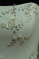 Corpino per Abito Sposa Corsetto con fiocchi perle in Tulle