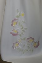 leggero schantung in poliestere avorio tessuto di misto seta