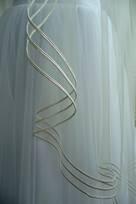 Velo di Pizzo con bordo Rebrode Tessuti lavorati merlettati